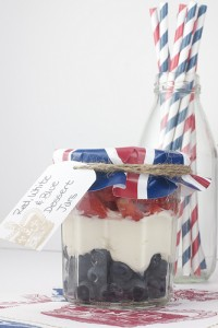 Red White and Blue Dessert Jars