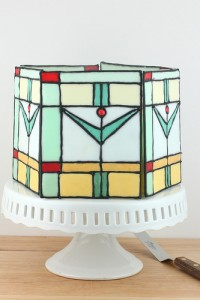 Mission Style Stained Glass Cake