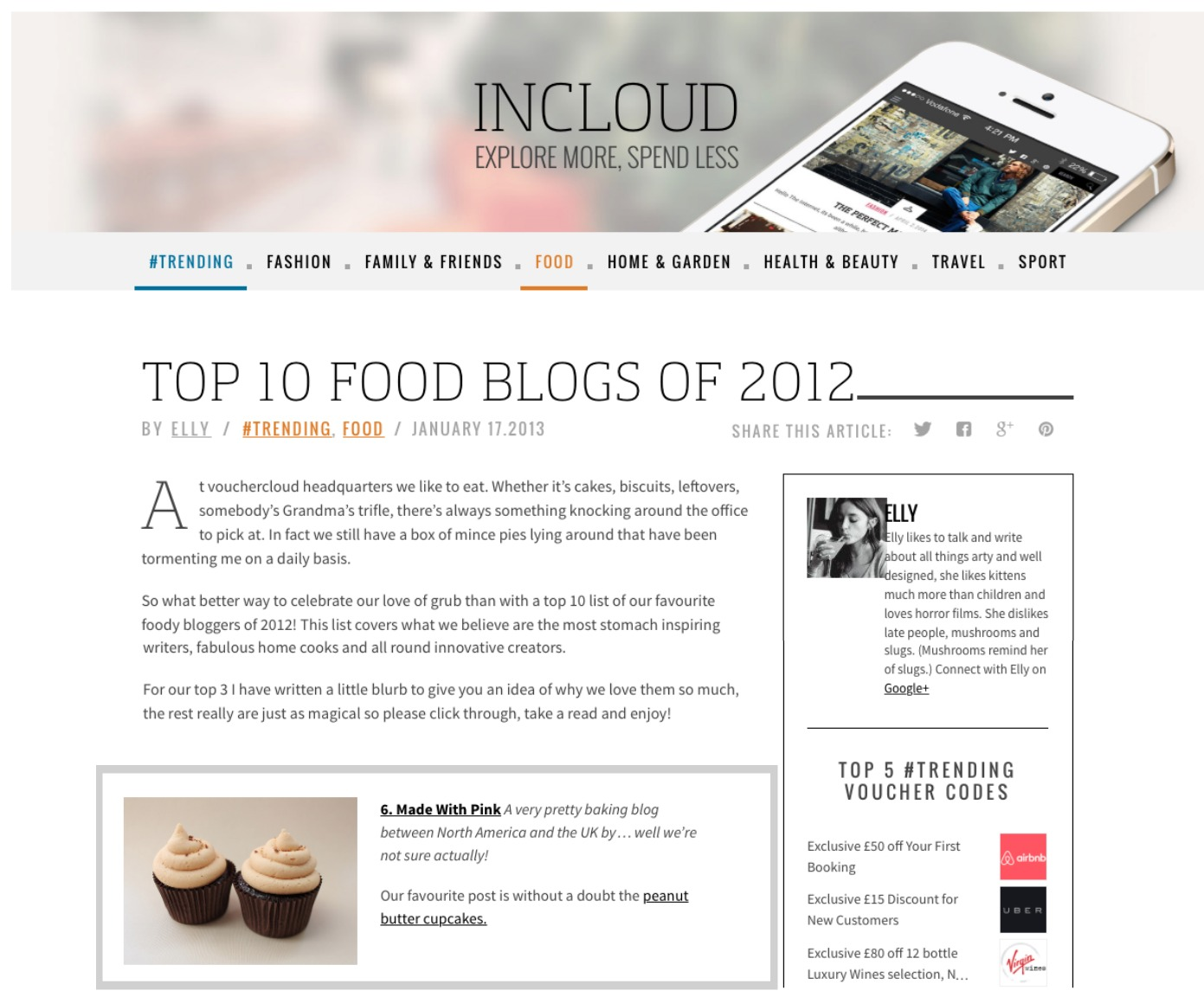 Voucher Cloud Top Food Blogs