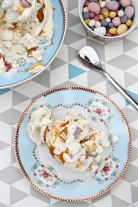 Easter Mini Egg Caramel Pavlova